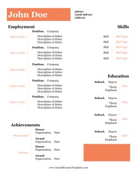 Flight Attendant Resume Sample Honors And Awards Examples